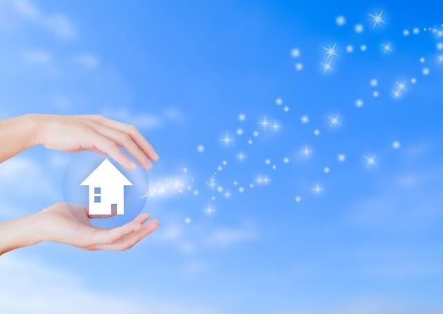 火災保険で家を補償するイメージ画像